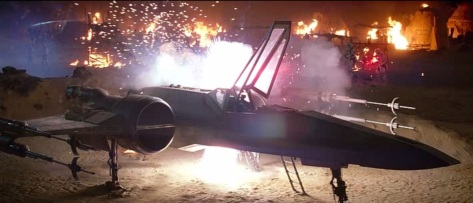 poe x-wing destroyed