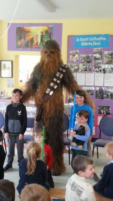 chewie school visit