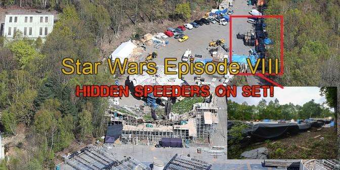 Star Wars Episode VIII Leak: Hidden Vehicles at Longcross!