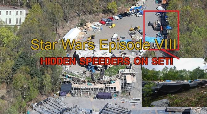 Star Wars Episode VIII Leak: Hidden Vehicles at Longcross!