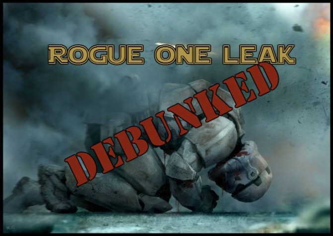 "Rogue One: Fallout from the KeepR1Dark ""Leak"""