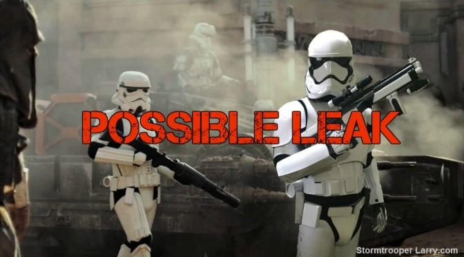 star wars rogue one leak spoiler