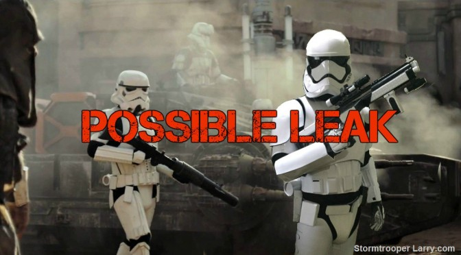 Rogue One: Possible PLOT LEAK from a Production Insider!