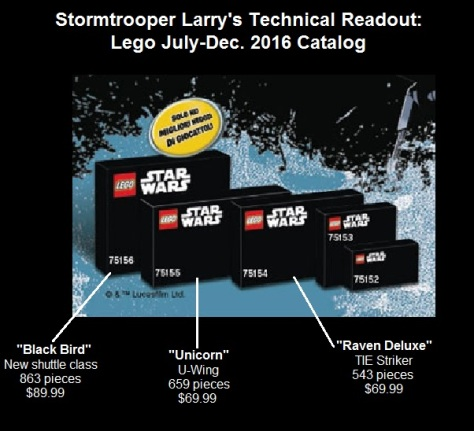 star wars rogue one lego catalog 2016 leak spoiler news