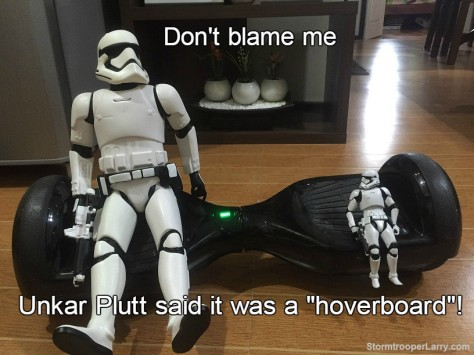 stormtrooper hoverboard funny